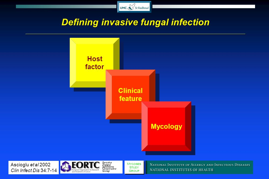 Defining invasive fungal infection
