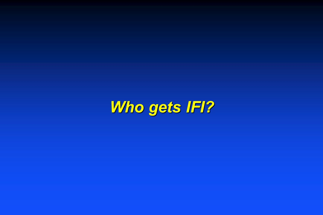 Who gets IFI