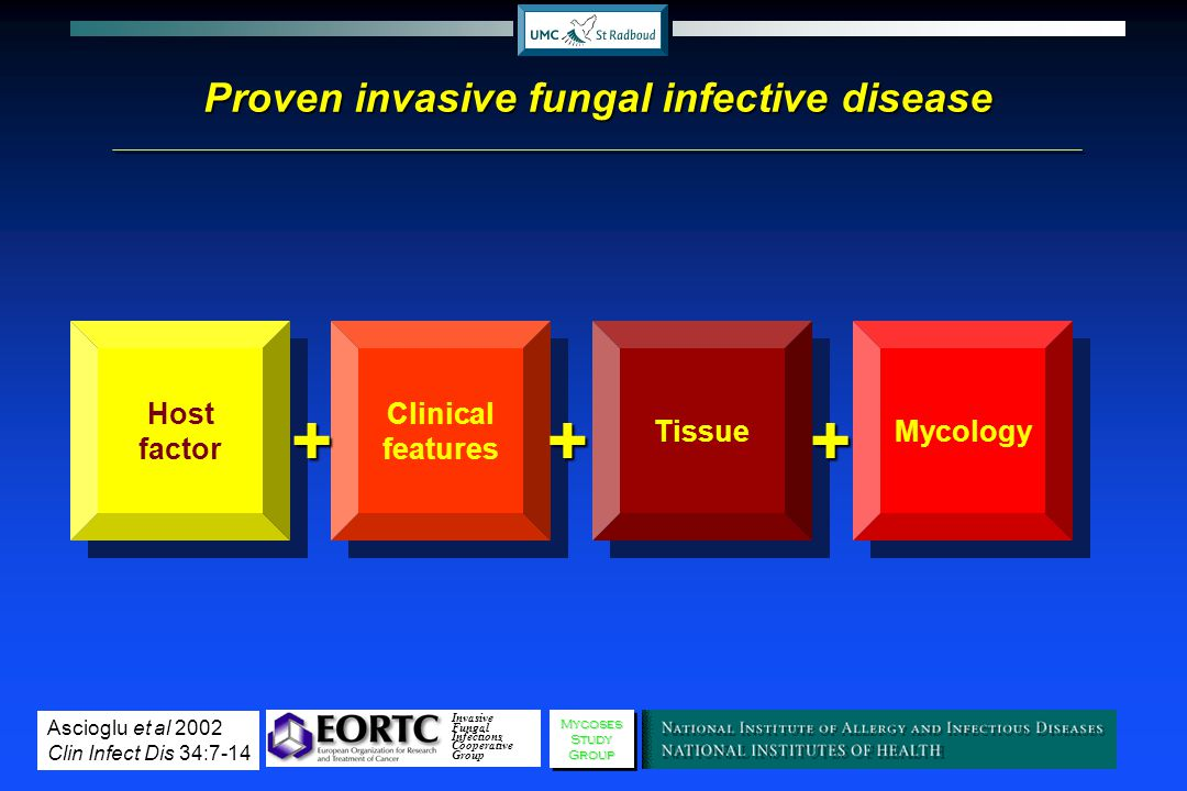 Proven invasive fungal infective disease