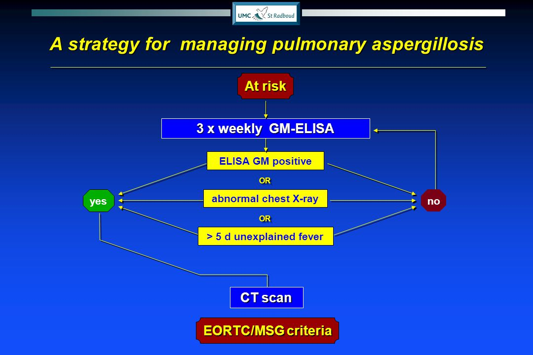 A strategy for managing pulmonary aspergillosis