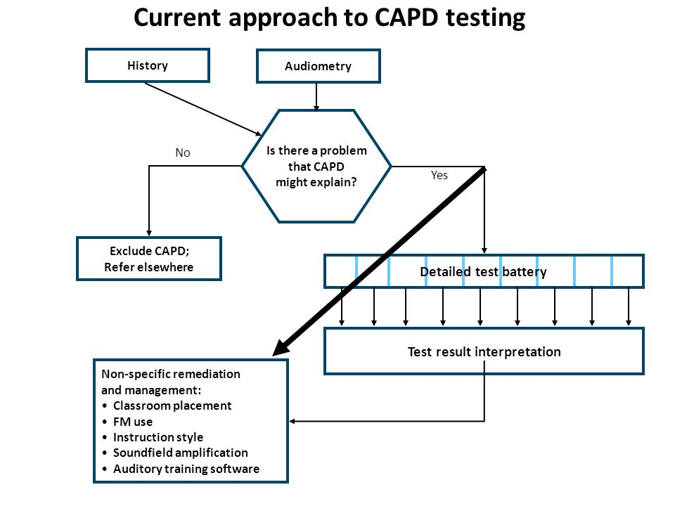 Current approach to CAPD testing