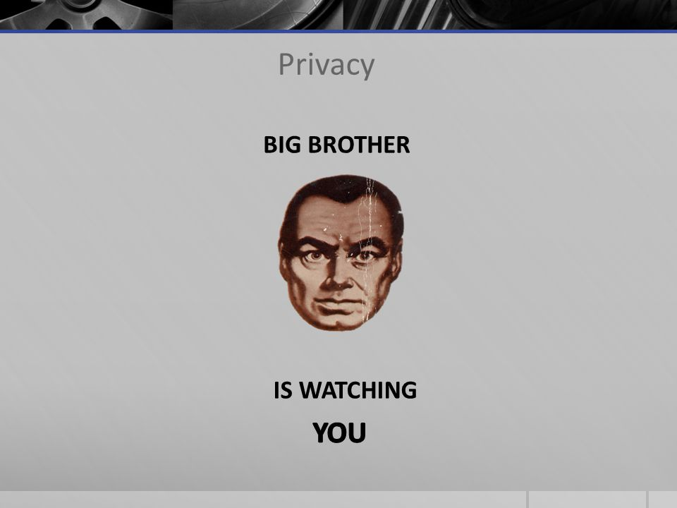Privacy YOU BIG BROTHER IS WATCHING
