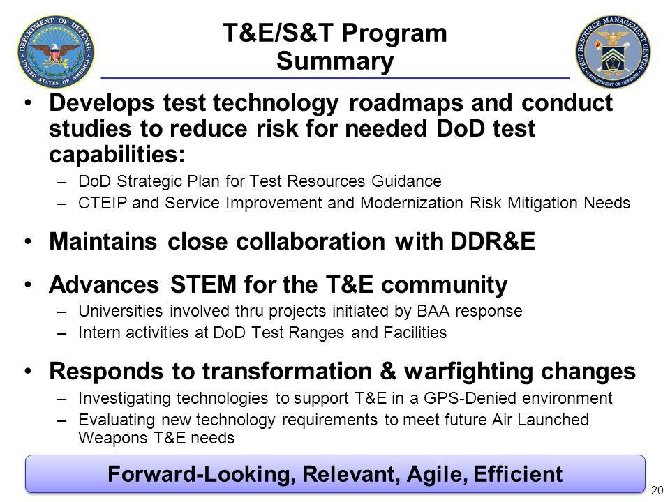 T&E/S&T Program Summary
