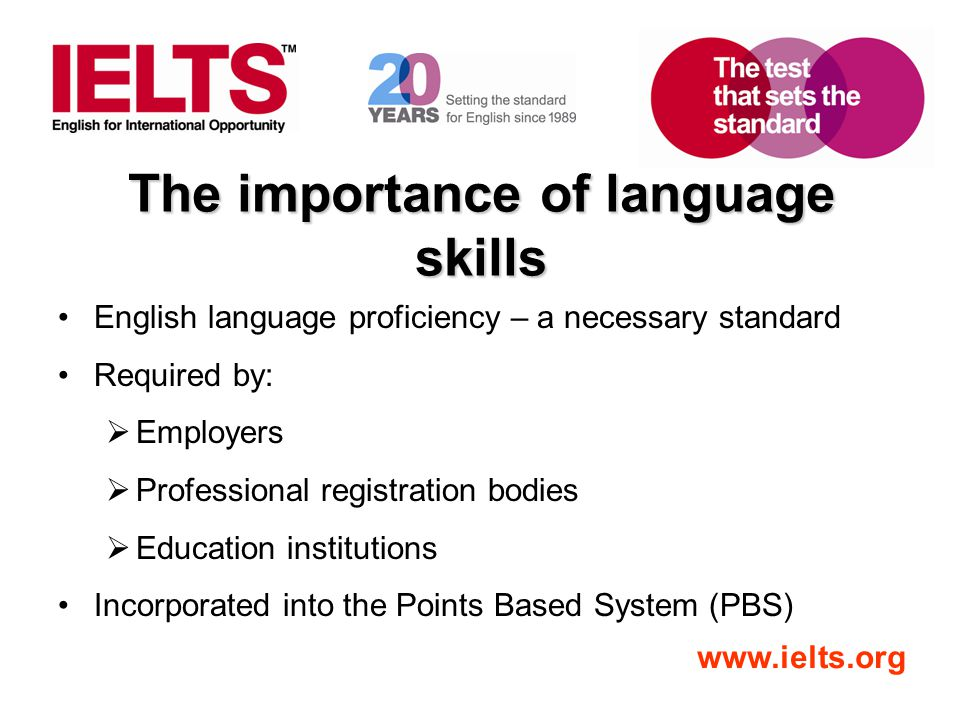 The importance of language skills