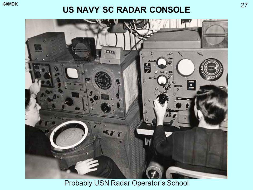 US NAVY SC RADAR CONSOLE
