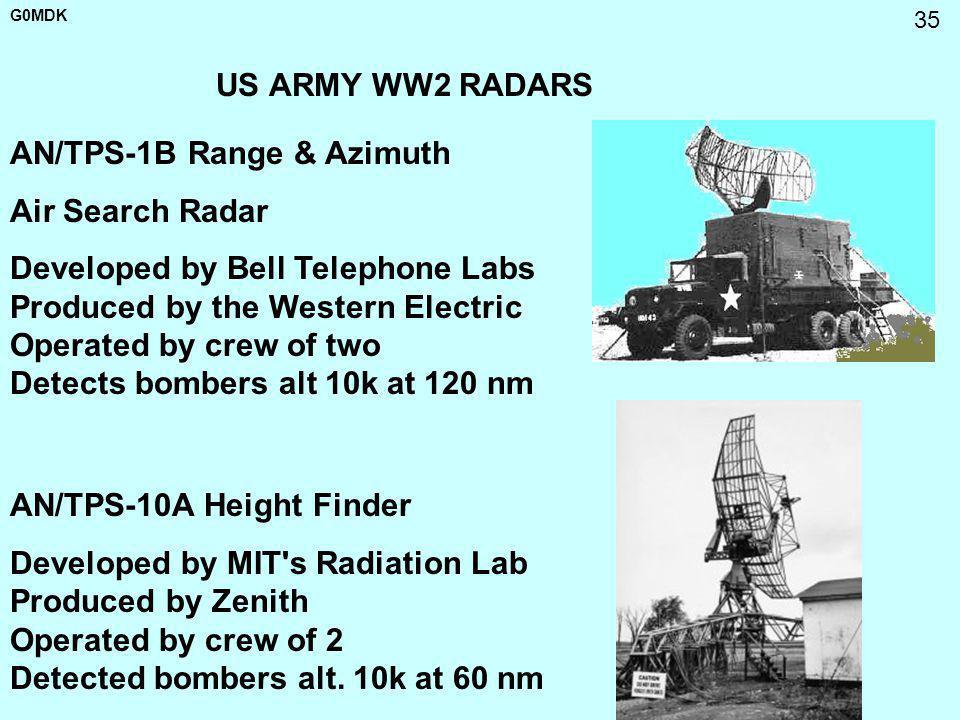 US ARMY WW2 RADARS AN/TPS-1B Range & Azimuth. Air Search Radar.