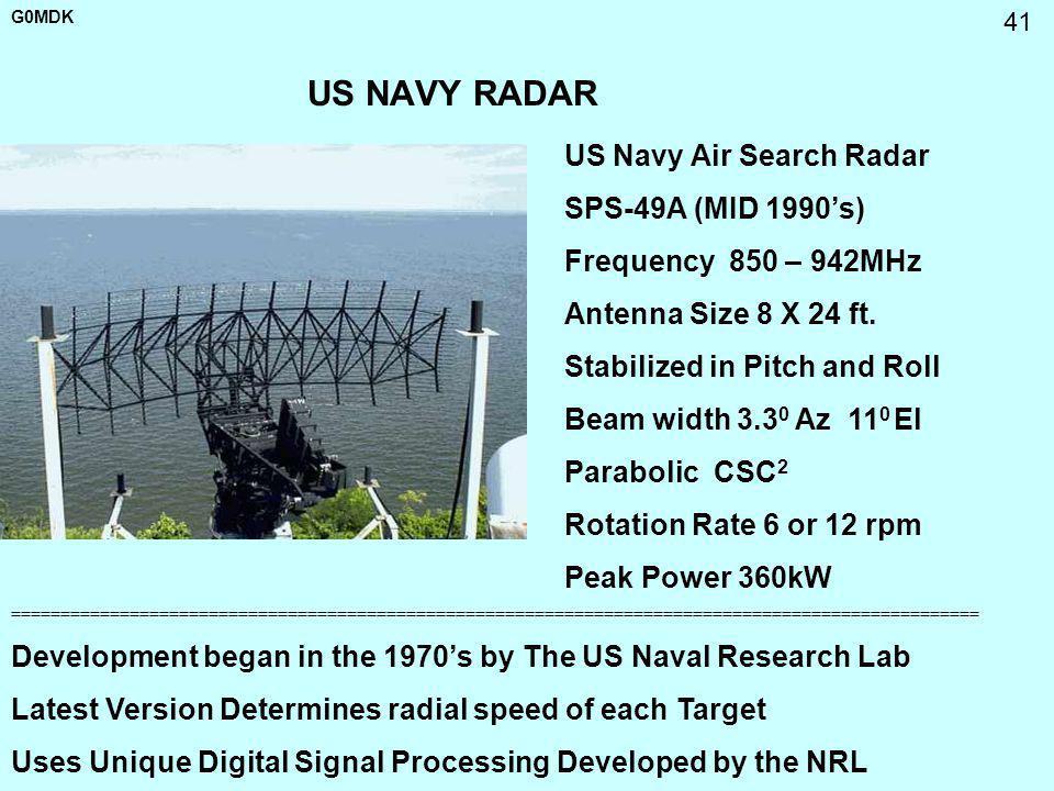 US NAVY RADAR US Navy Air Search Radar SPS-49A (MID 1990's)