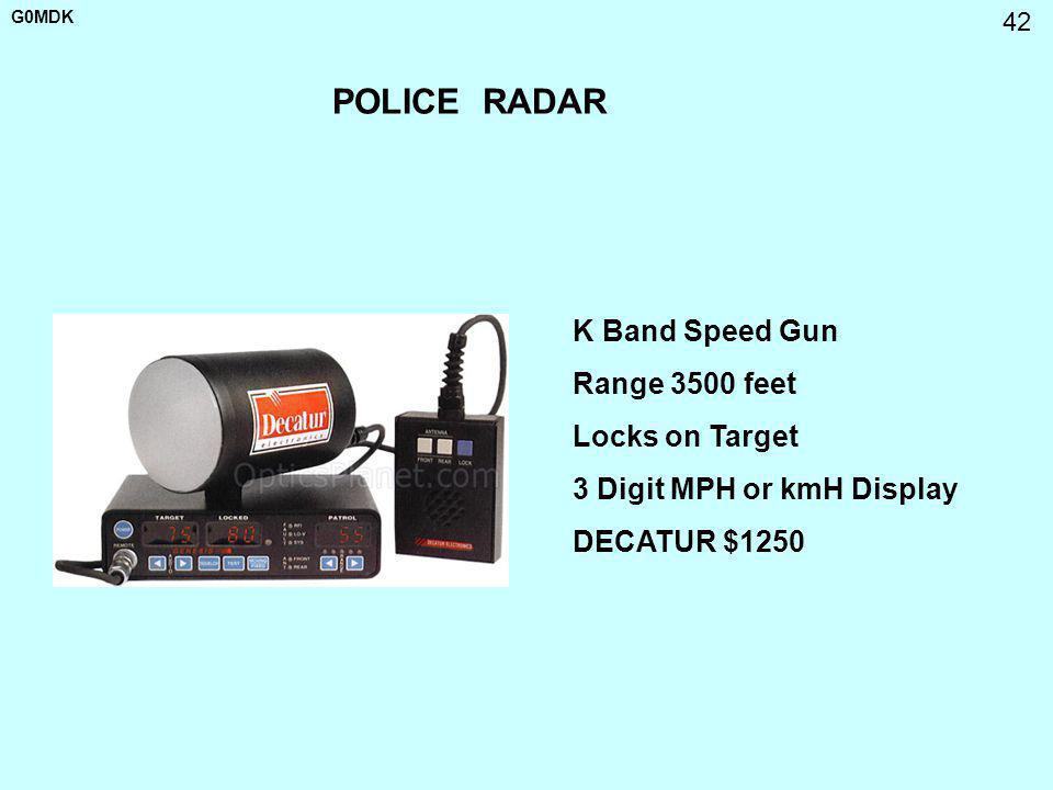 POLICE RADAR K Band Speed Gun Range 3500 feet Locks on Target