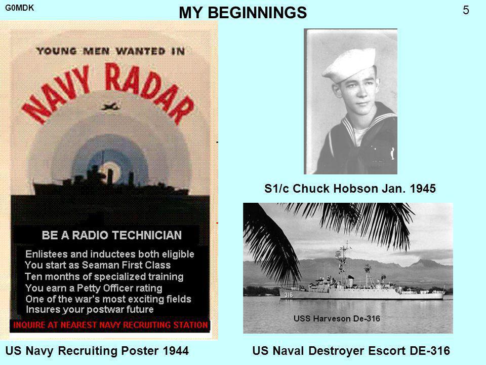 MY BEGINNINGS S1/c Chuck Hobson Jan. 1945