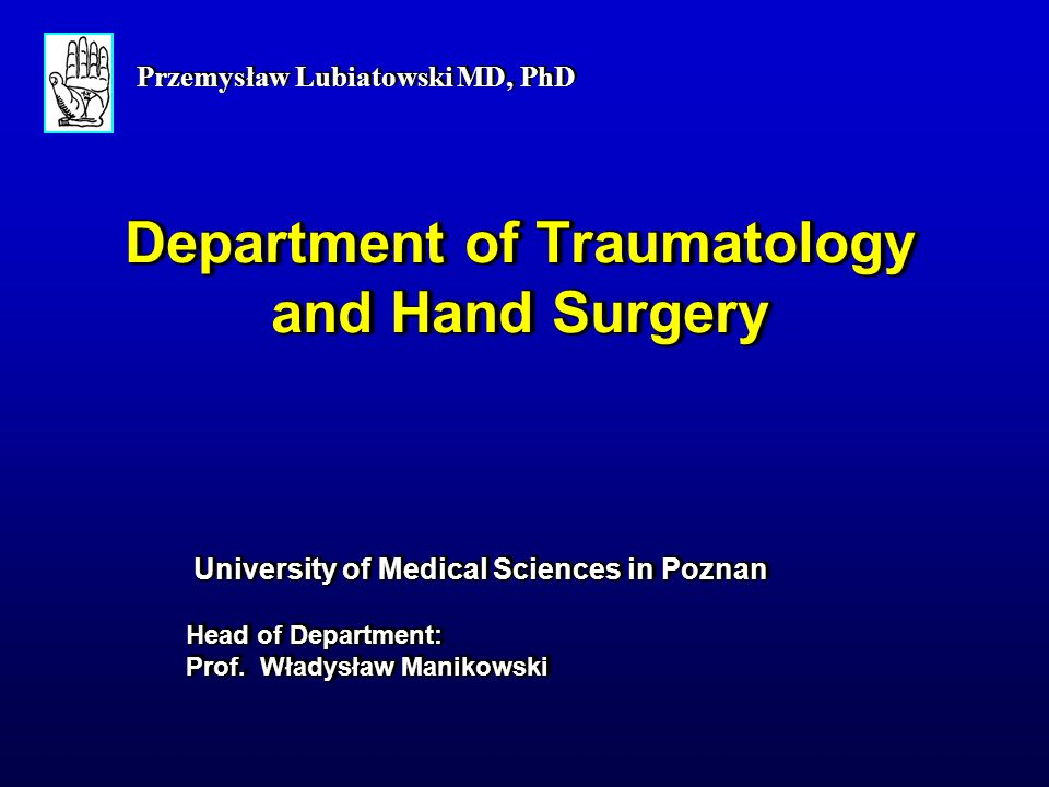Department of Traumatology and Hand Surgery