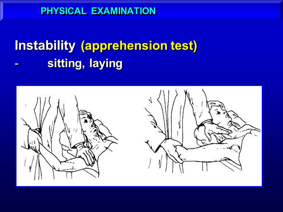 Instability (apprehension test)
