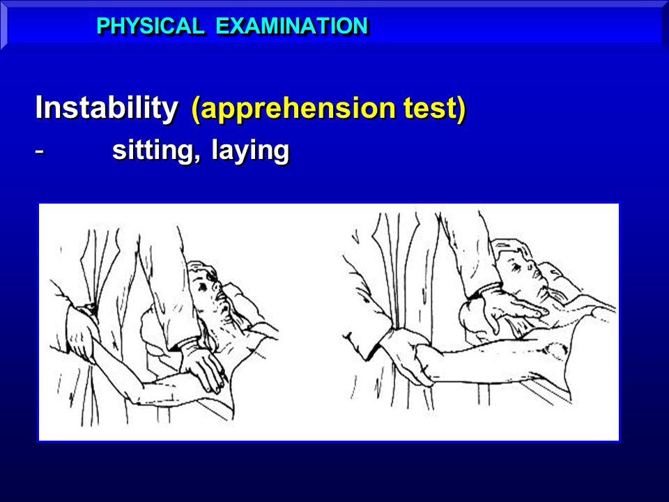 Instability (apprehension test)