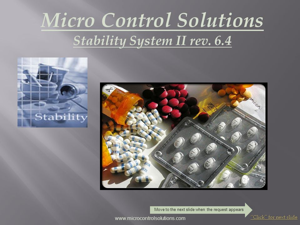 Micro Control Solutions Stability System II rev. 6.4