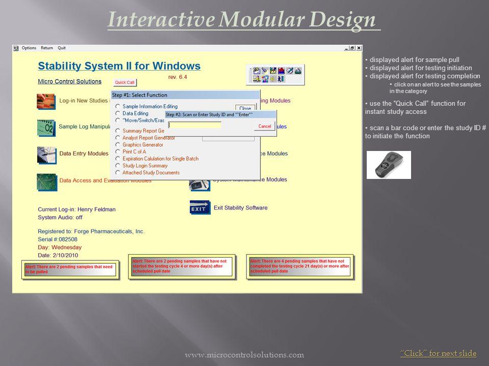 Interactive Modular Design