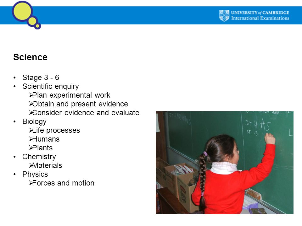 Science Stage Scientific enquiry Plan experimental work