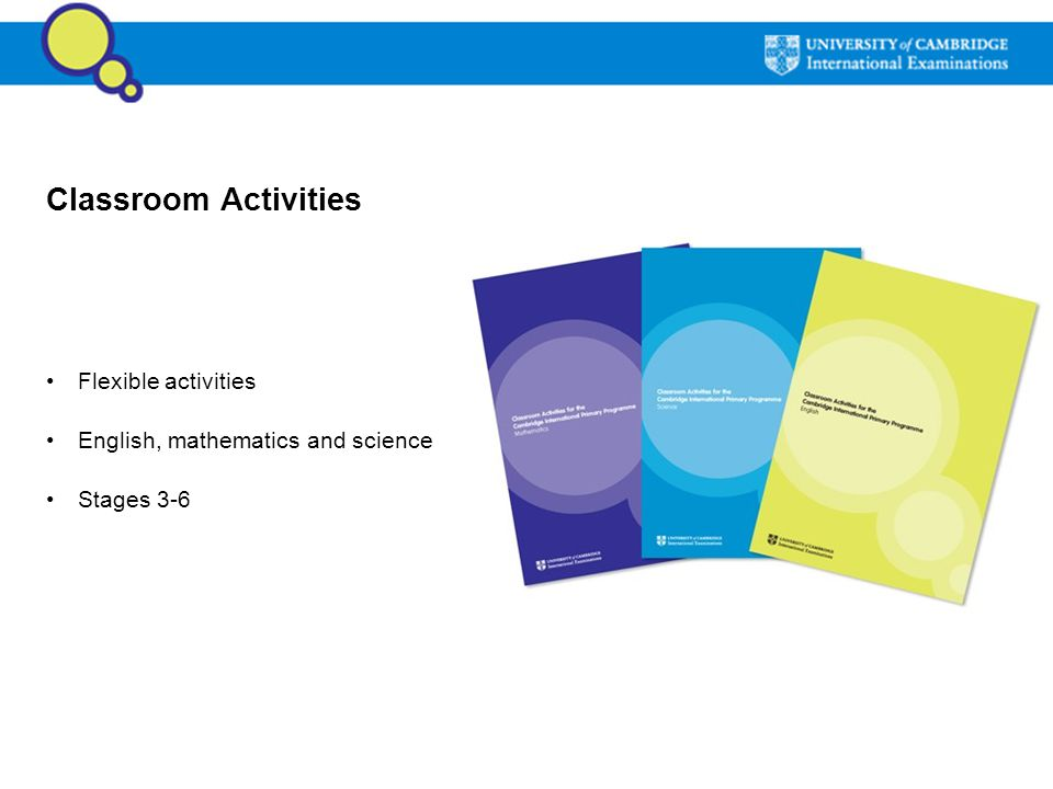 Classroom Activities Flexible activities