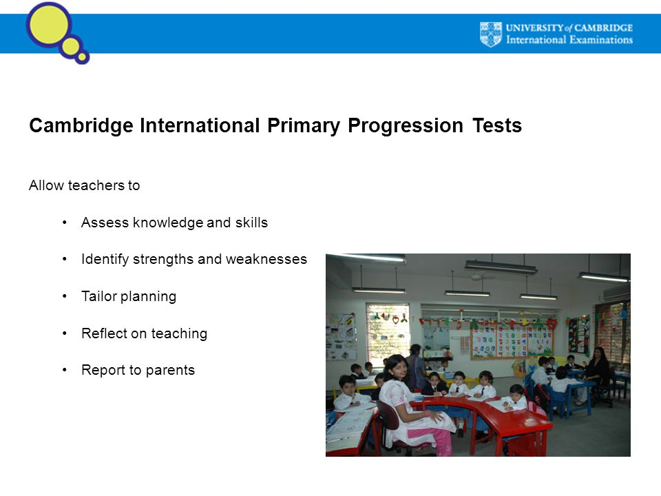 Cambridge International Primary Progression Tests