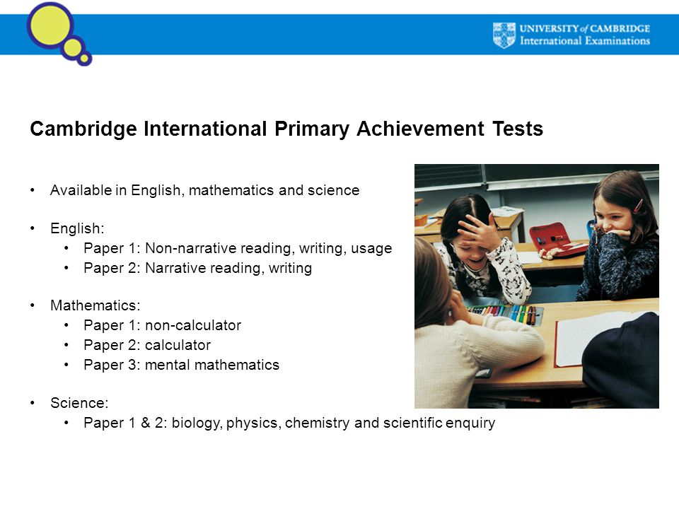Cambridge International Primary Achievement Tests