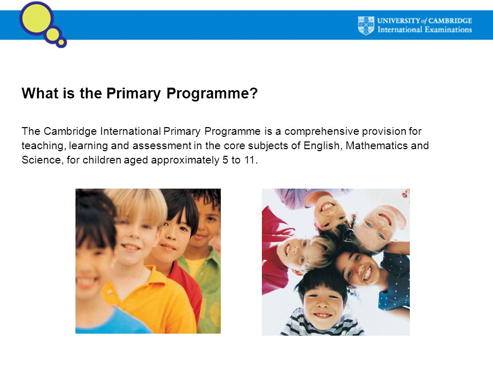 What is the Primary Programme