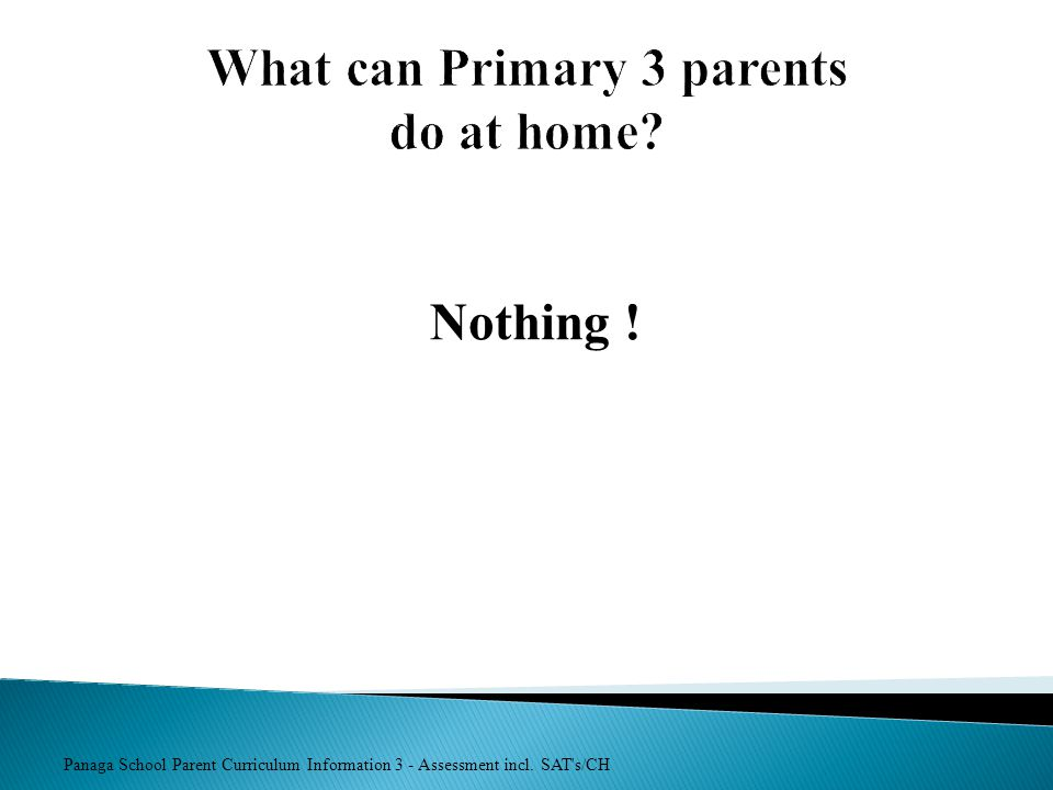 What can Primary 3 parents do at home