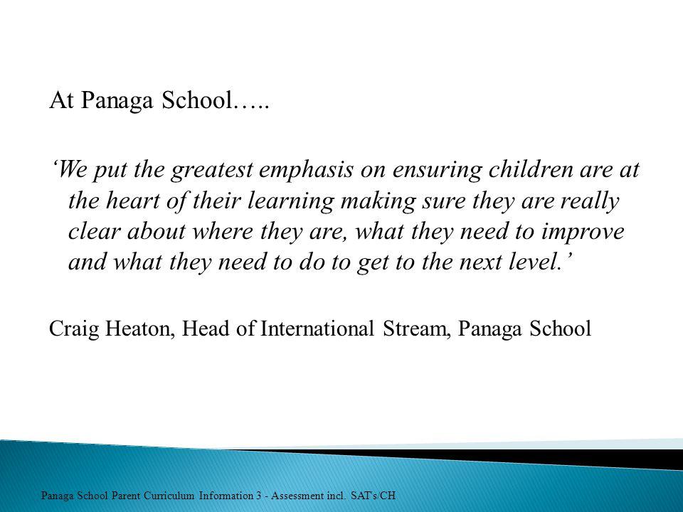 At Panaga School…..