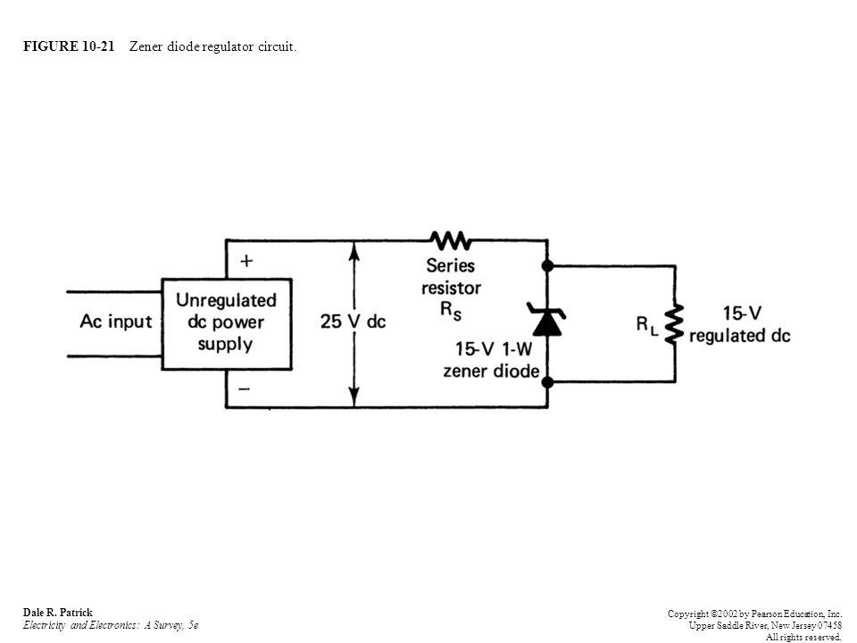 FIGURE 10-21 Zener diode regulator circuit.