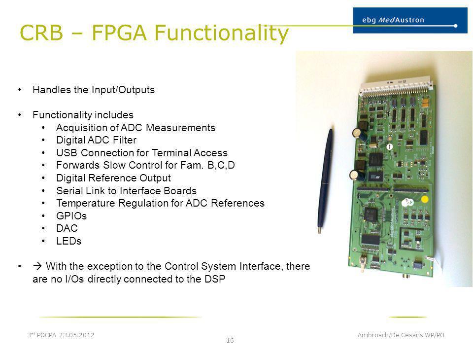 CRB – FPGA Functionality