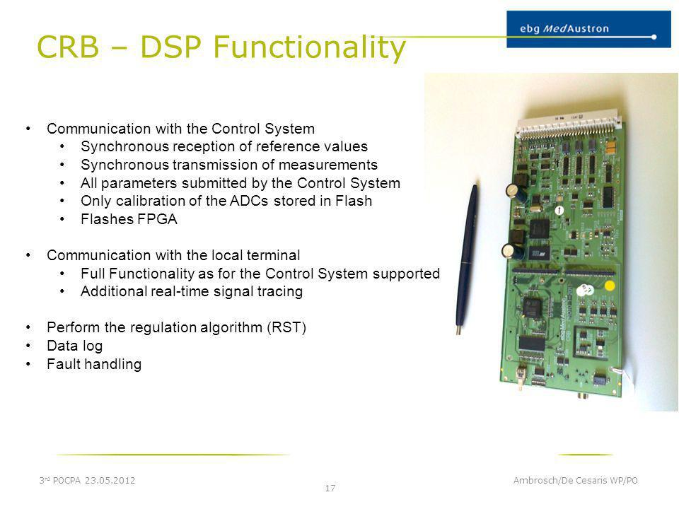 CRB – DSP Functionality