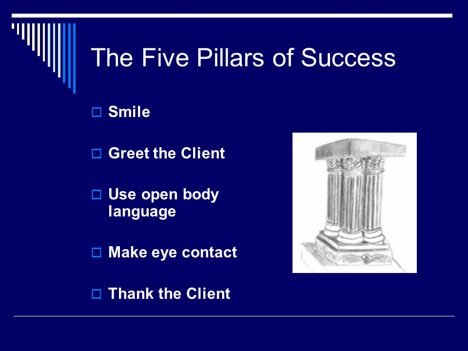 The Five Pillars of Success