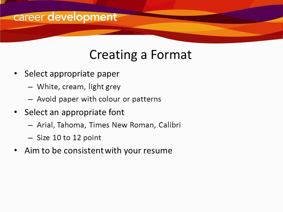 writing cover letters ppt