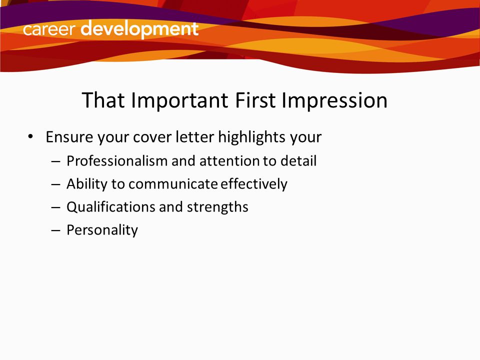 That Important First Impression