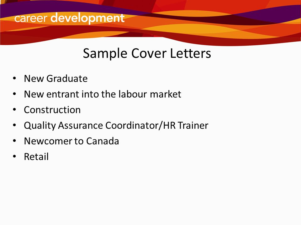 new graduate cover letters
