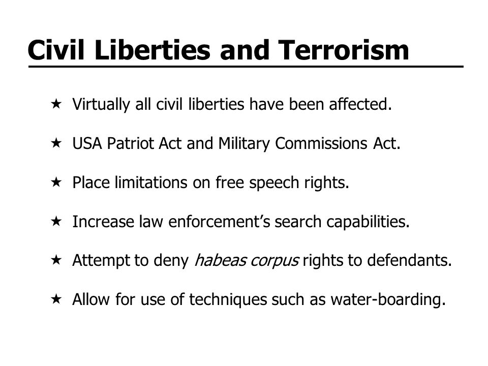 Civil Liberties and Terrorism
