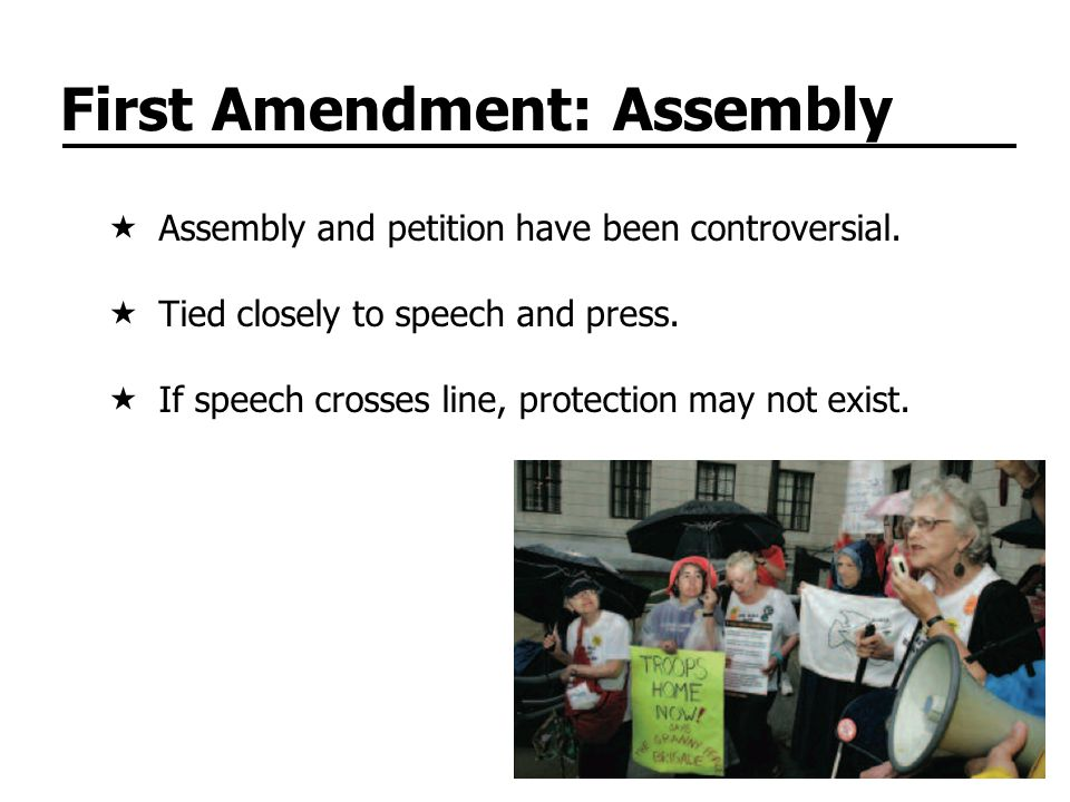 First Amendment: Assembly