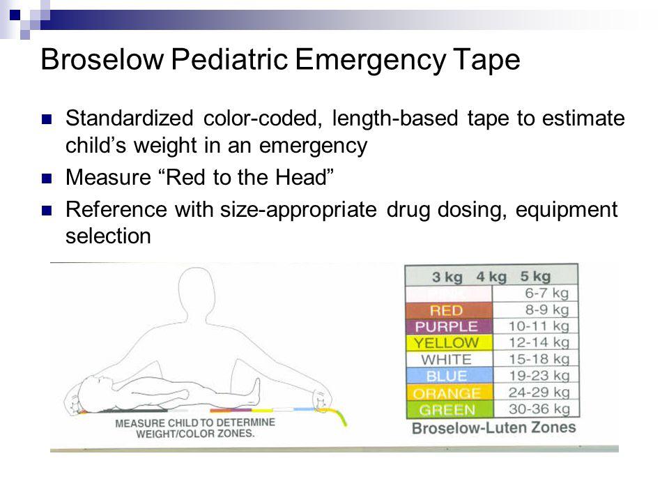 Broselow Pediatric Emergency Tape