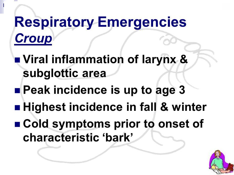 Respiratory Emergencies Croup