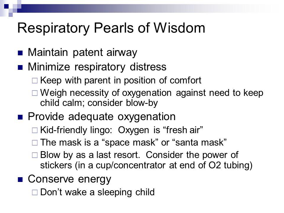 Respiratory Pearls of Wisdom