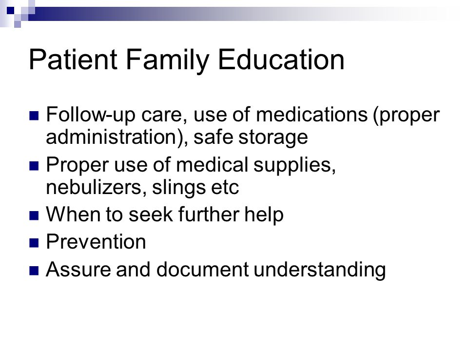 Patient Family Education