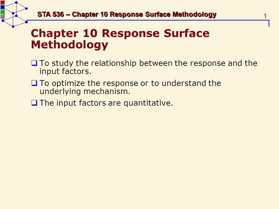 Chapter 10 Response Surface Methodology