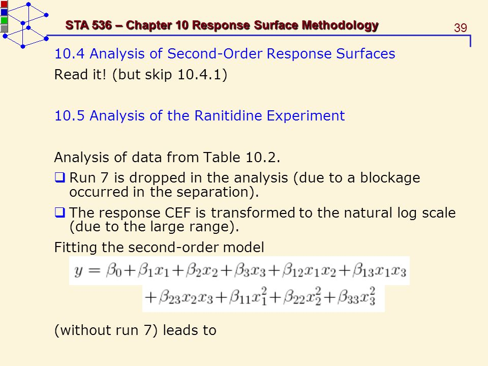 10.4 Analysis of Second-Order Response Surfaces