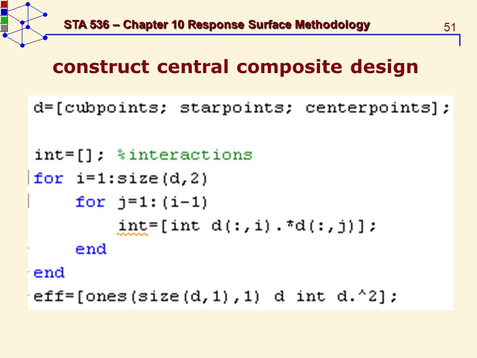 construct central composite design