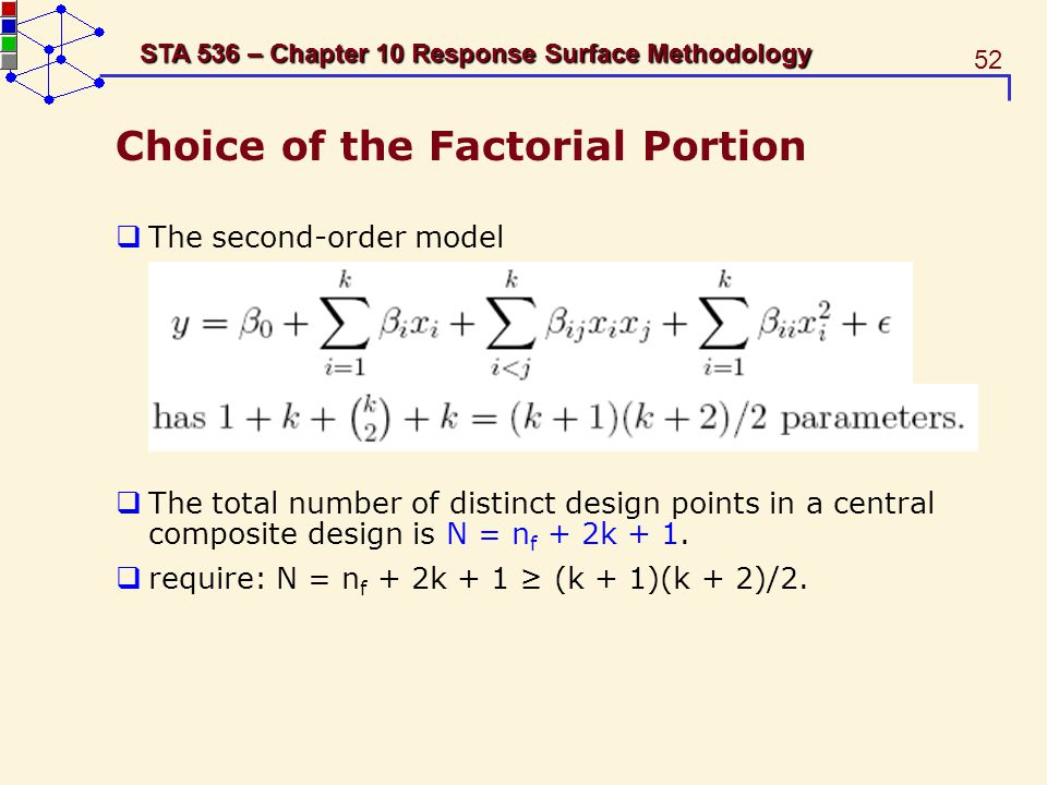 Choice of the Factorial Portion