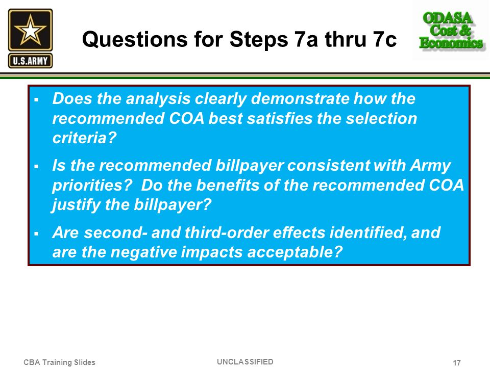 Questions for Steps 7a thru 7c