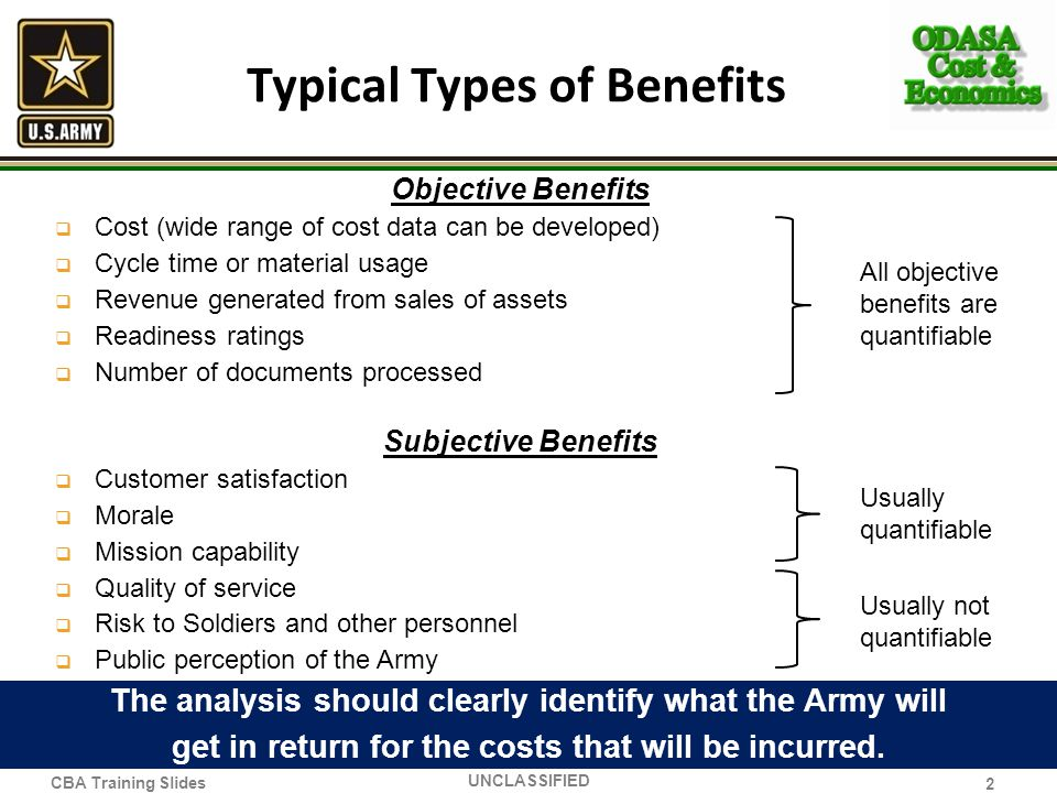 Typical Types of Benefits