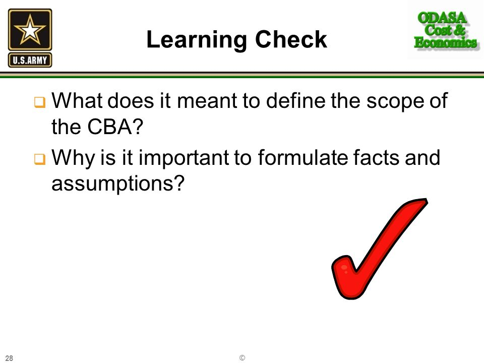 Learning Check What does it meant to define the scope of the CBA