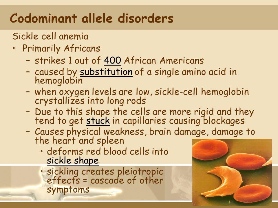 Codominant allele disorders