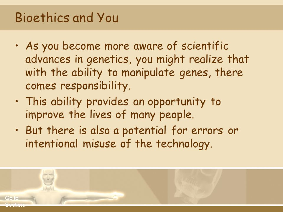 Bioethics and You