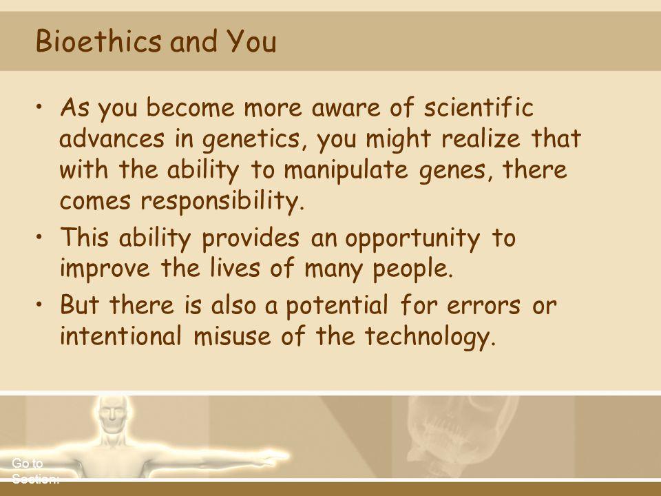 Bioethics and You