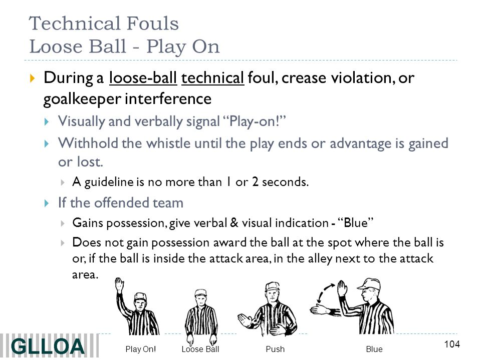 Technical Fouls Loose Ball - Play On