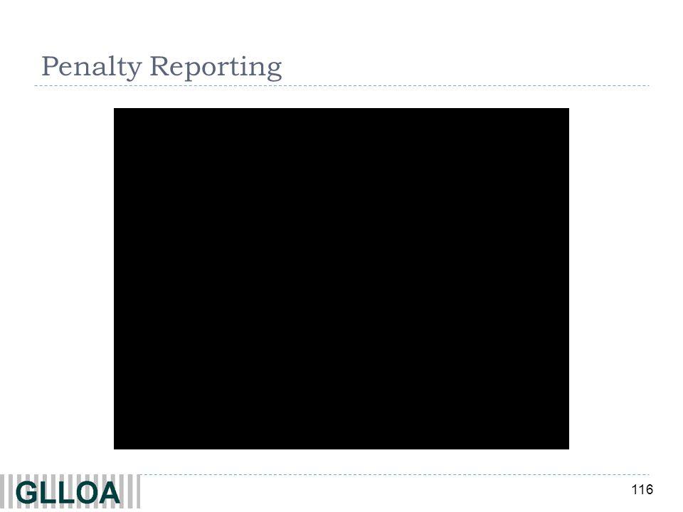 Penalty Reporting